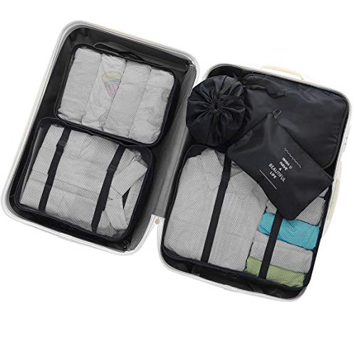 (OEE 6 pcs Luggage Packing Organizers Packing Cubes Set for Travel)