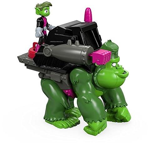 Fisher-Price Imaginext Teen Titans Go! Beast Boy & Gorilla Figures (Dc Figures Beast Boy)