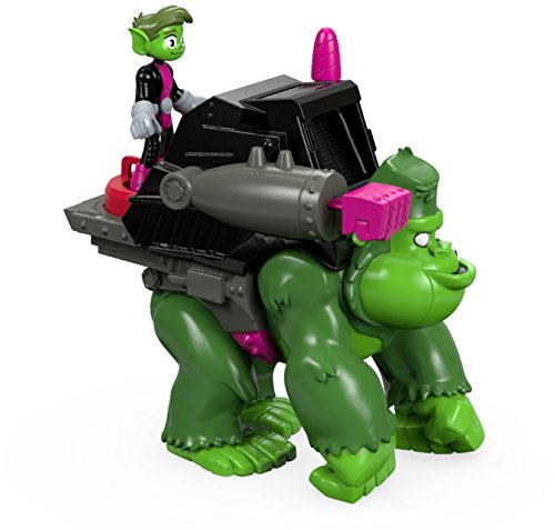 Fisher-Price Imaginext Teen Titans Go Beast Boy and Gorilla (Teen Toys For Boys)