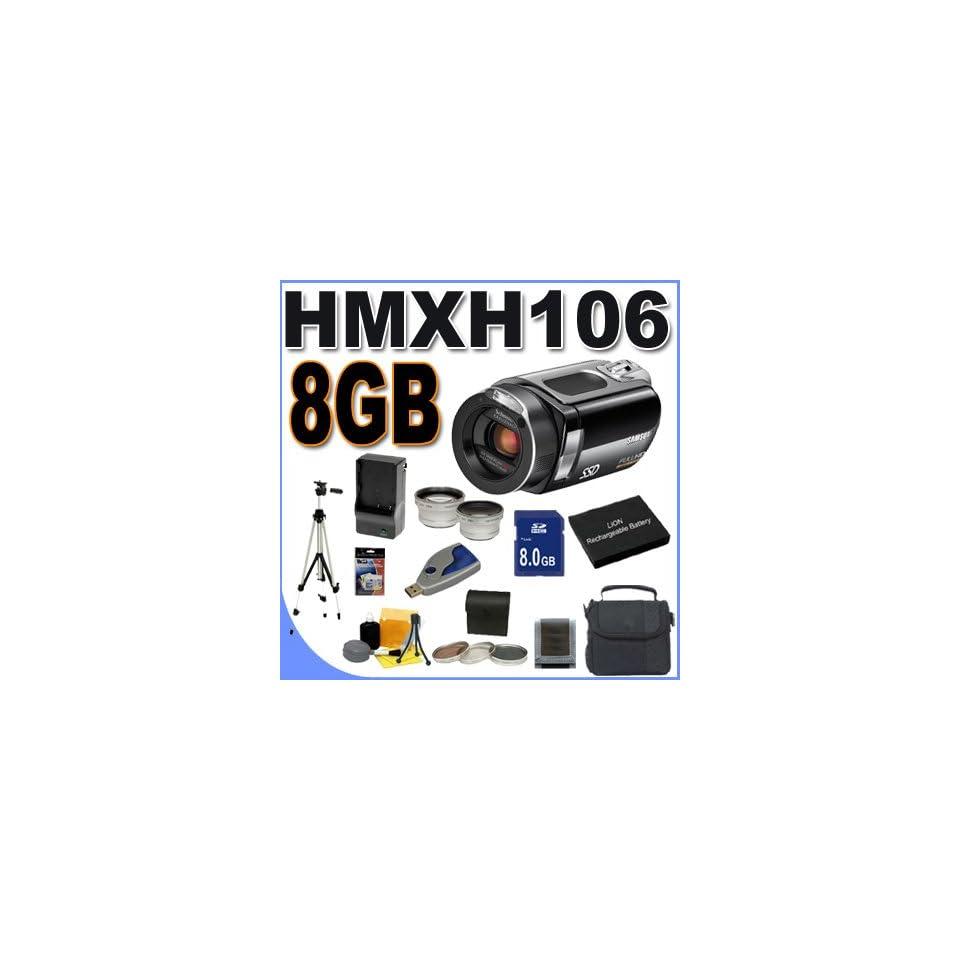 Samsung HMX H106 High Definition Digital Camcorder   Flash Memory, Memory Card   2.7 Color LCD   10x Optical/100x   64GB