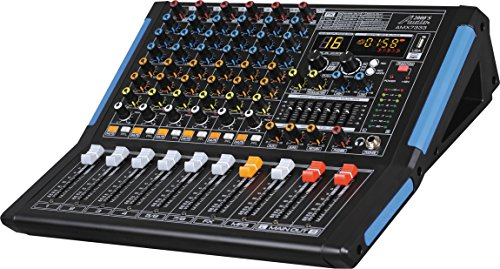 Professional Eight-Channel Audio Mixer with USB Interface, Bluetooth, and DSP Sound Effects (8 Channel Audio Mixer)