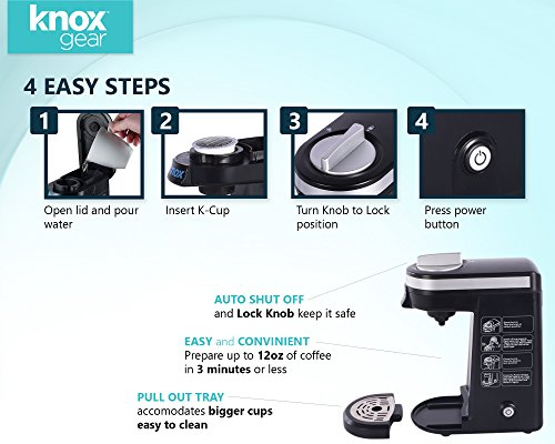 Knox Compact Travel Size K-Cup Coffee Brewer by Knox (Image #2)