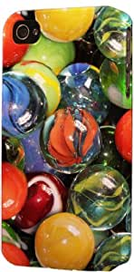 taoyix diy Marbles Pattern Dimensional Case Fits Apple iPhone 4 or iPhone 4s