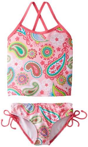 Kanu Surf Little Girls' Secret Garden Tankini, Pink, 4