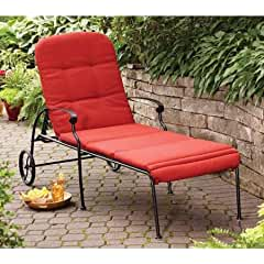 Home and Garden Red Chaise Lounge with Wheels. The Chaise Lounge Chair Can Be Placed At Home Ind ...