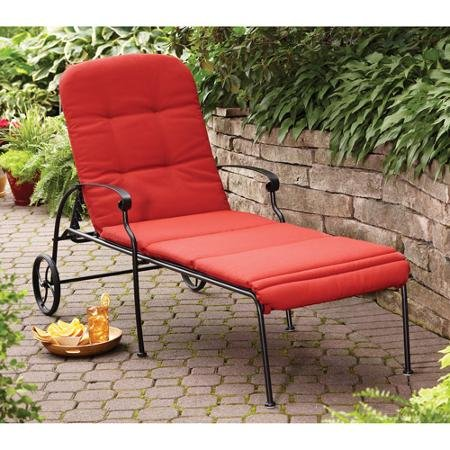 Better Homes and Gardens Clayton Court Chaise Lounge with Wheels,Red
