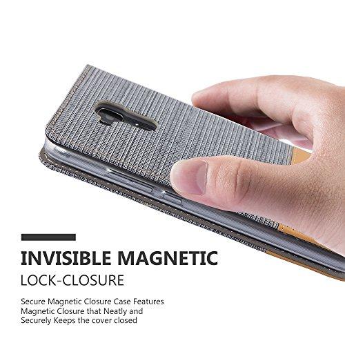 Cadorabo - Funda Estilo Book para Honor 5C de Diseño Tela / Cuero Arificial con Tarjetero, Función de Soporte y Cierre Magnético Invisible