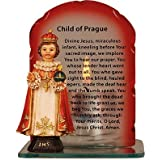 Infant Child of Prague Catholic Statue & Candle with Prayer. by Catholic Gift Shop Ltd
