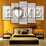 Home Decor,Home Decorations for Living Room Unframed 5 Panels Wall Art of Home Painting Pictures Prin