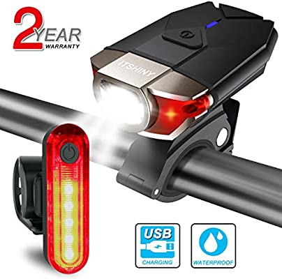 ITSHINY luz Bicicleta, Luces para Bicicleta LED Recargable e ...