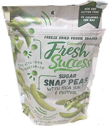 Concord Foods Freeze Dried Sugar Snap Peas-3 Packages of .8oz