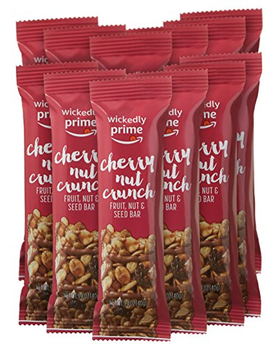 Wickedly Prime Fruit, Nut & Seed Bar, Cherry Nut Crunch, 1.4 Ounce (Pack of 12)