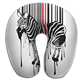 U Shape Neck Pillow Travel Soft Cervical Pillows Zebra Splash Print Pillow