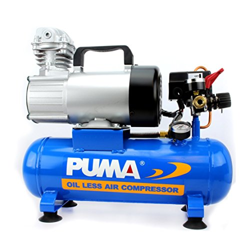 Puma Industries PD1006 Air Compressor, Professional D.C. Direct Drive Oil-Less Series, 0.75 hp Running, 135 Maximum psi, 12V Phase, 1.5 gal, 31 lb.