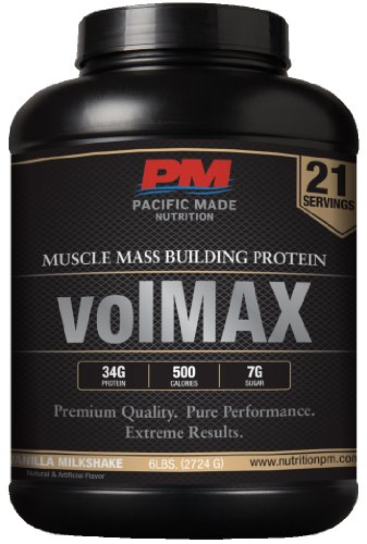 volmax | Weight Gainer Protein pour mettre sur la masse - 21 Portions, Haute Qualité Whey Protein - PRIX DE VENTE! (Vanilla Milkshake) - EN VENTE MAINTENANT!