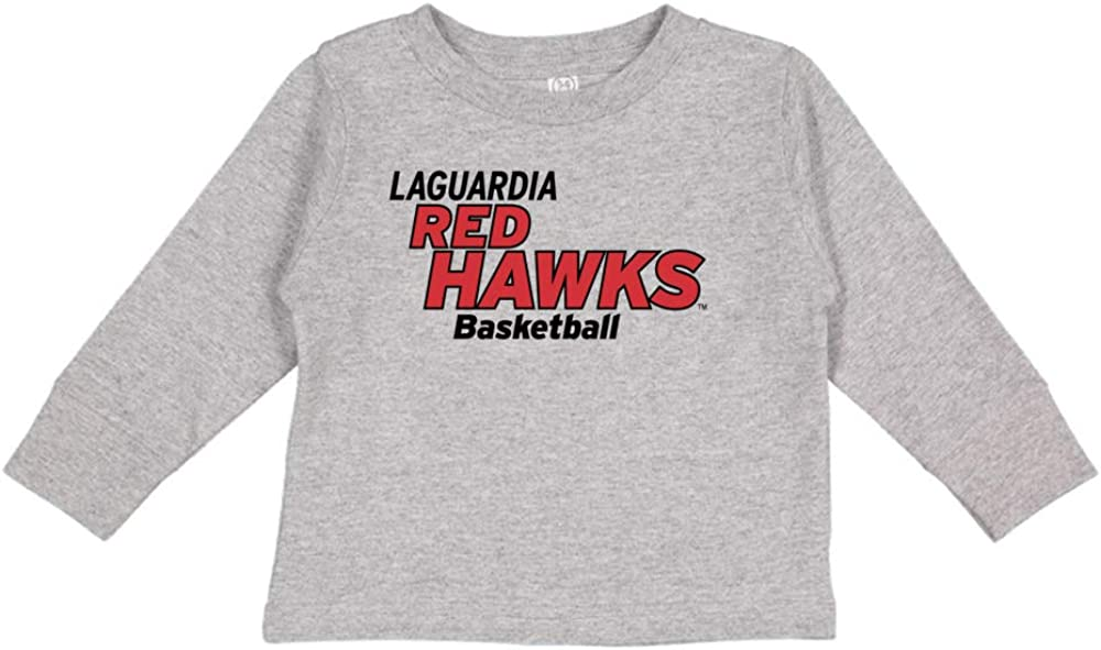 NCAA LaGuardia Redhawks PPLCC06 Toddler Long-Sleeve T-Shirt
