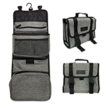 Toiletry Travel Hanging Bag All in One Traveling Cosmetic Organizer Toiletries Kit with 7 Pockets By D-Jeesian