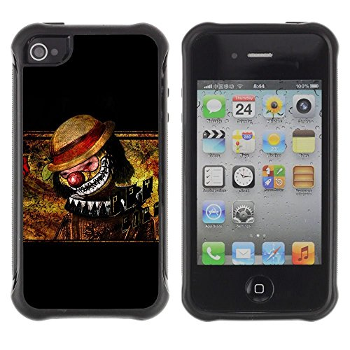 iPhone 4 / iPhone 4S , Clown Scary Creepy Art Drawing Hat Nose