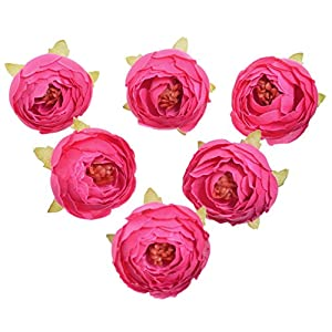 AlphaAcc Pack of 10 Wedding Favor Flower Head Artificial 1.5 Inch Silk Rose Heads for Bridal Shower Decorations Replacement for Flowers Bouquet 25