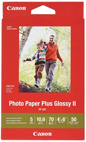 "CanonInk Photo Paper Plus Glossy II 4"" x 6"" 50 Sheets (1432C005)"