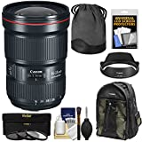 Canon EF 16-35mm f/2.8L III USM Zoom Lens with 3 UV/CPL/ND8 Filters + Backpack + Kit