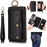 Galaxy Note 8 Leather Flip Case Cover,Galaxy note 8 wallet Case For Women and Men,AIFENG [14 Card Holder][Zipper][Magnetic Detachable]Wallet Folio Case Leather Pouch For Samsung Galaxy note 8,Black