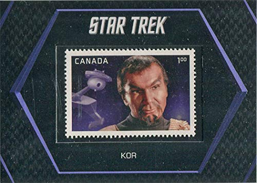 Star Trek TOS Captains Collection 50th Canada Stamp Card S5 Kor