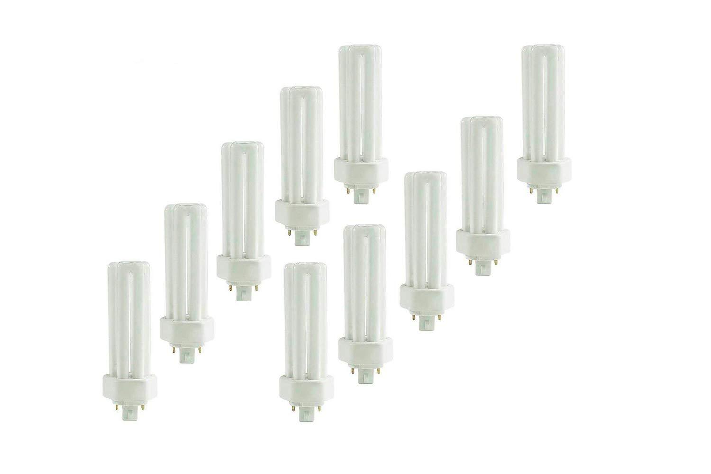 (10 Pack) PLT-26W 827, 4 Pin GX24q-3, 26 Watt Triple Tube, Compact Fluorescent Light Bulb