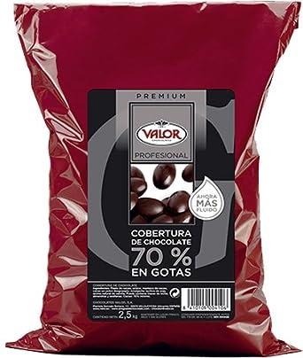 Cobertura de Chocolate 70% en Gotas - Valor. Pack 2,5 Kg: Amazon.es: Alimentación y bebidas