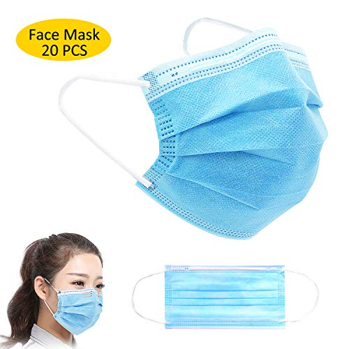 UTOTEBAG Great Facial Mask for Daily Use (Blue,20 Pcs)