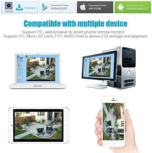 ieGeek Cámara de Seguridad, cámara IP HD 1080p, con Detección de Movimiento, Visión Nocturna por Infrarrojos, Tarjeta SD y Soporte FTP. Proteja a su ...