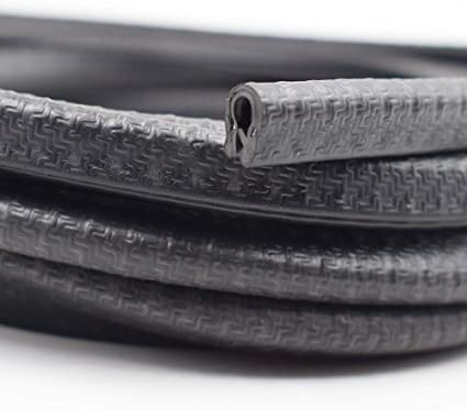 Boats Black U Height Flexible Rubber Seal Strip for Protecting Edges of Cars Vehicles /& Metal Glass Equipment Durable and Removable 3 Feet Fits Edge 1//16 KX Edge Trim Black Small