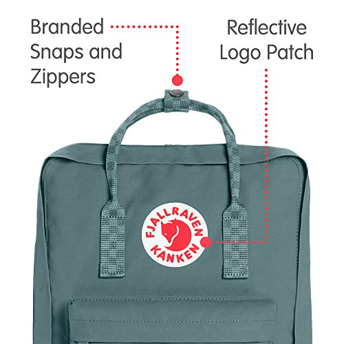 Fjallraven - Kanken Classic Backpack for Everyday, Frost Green-Chess Pattern by Fjallraven (Image #2)
