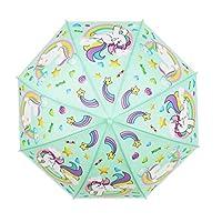 Cute Unicorn Bubble Dome Transparent Stick Umbrella