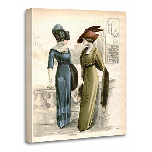 TORASS Canvas Wall Art Print Rare Vintage Edwardian Classic Antique Dress Reproductions Artwork for Home Decor 16