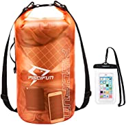 Piscifun Dry Bag Waterproof, Transparent Dry Bag with Phone Case for Women and Men, Dry Bag 2L/5L/10L/20L/30L/