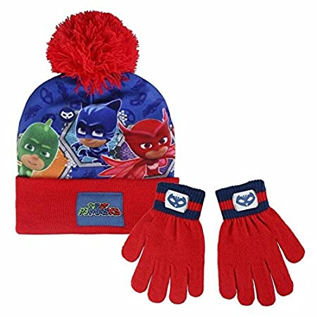 PJ Masks 2200002562 Children s Winter Set Includes Beanie Bobble Hat and  Gloves abef4b866444