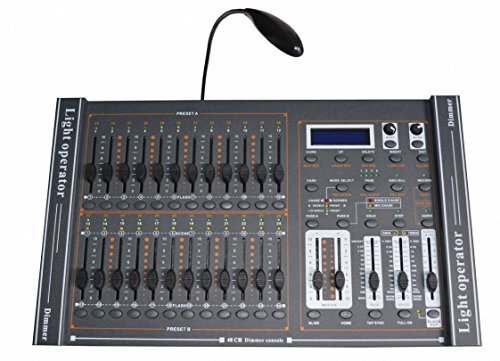 New 48 CH DMX-512 Dimming Console Stage Lighting Controller With LED Lamp Pro ()