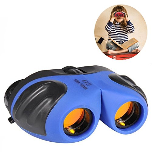 Binocular for Kids, Happy Gift Compact Birding Wide Field of Wiew Binocular Teen Boy Birthday Presents Gifts Boys Toys 3-12(Blue)