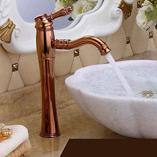 CHENBIN-BB バスルーム継手銅の蛇口洗面上げるローズゴールドの浴室のシンクミキサータップ