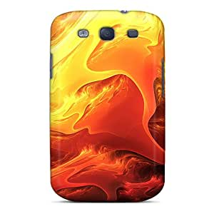 Top Quality Case Cover For Galaxy S3 Case With Nice Fire Art Appearance