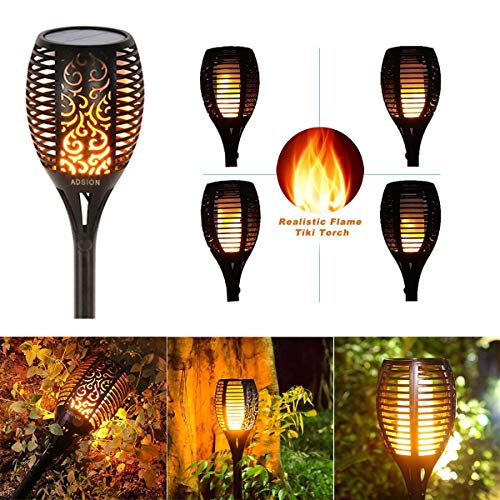 Solar Torch Light, Outdoor Waterproof Flickering Flames Solar Torches Dancing Flames Landscape Decoration Lighting Lamp for Garden Patio Deck Yard Driveway Pathway (4 Pack) by Wiw (Image #6)