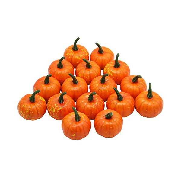 YOFIT-16-Pcs-Artificial-Fruit-Fake-Mini-Pumpkins-for-Halloween-House-Party-Decoration