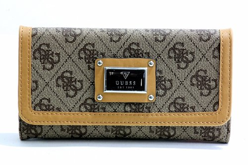 GUESS Women's Scandal SLG Slim Clutch Brown - Brand 1 The Guess