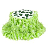 DELUXE SHAMROCK FURRY BUCKET HAT ST PATRICKS DAY 1 DOZEN