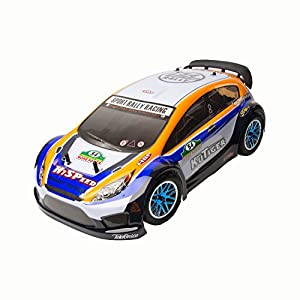 ALEKO 94177 Vertex 18 CXP 4WD 2.4 Gh Nitro Powered Short Course Rally Car, Yellow 1/10 Scale