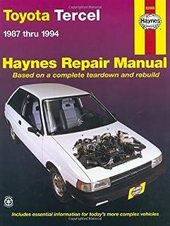 haynes toyota tercel 87 94 manual 92085 0038345021060 amazon rh amazon com 1998 toyota tercel repair manual pdf 1988 Toyota Tercel