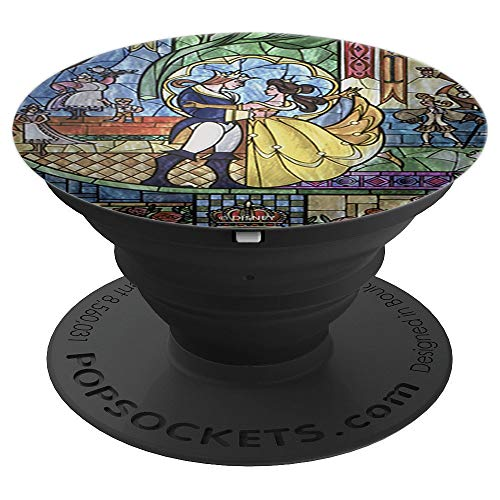 Amazon.com: Disney Beauty And The Beast Stained Glass Window Dancing - PopSockets Grip and Stand for Phones and Tablets: Cell Phones & Accessories