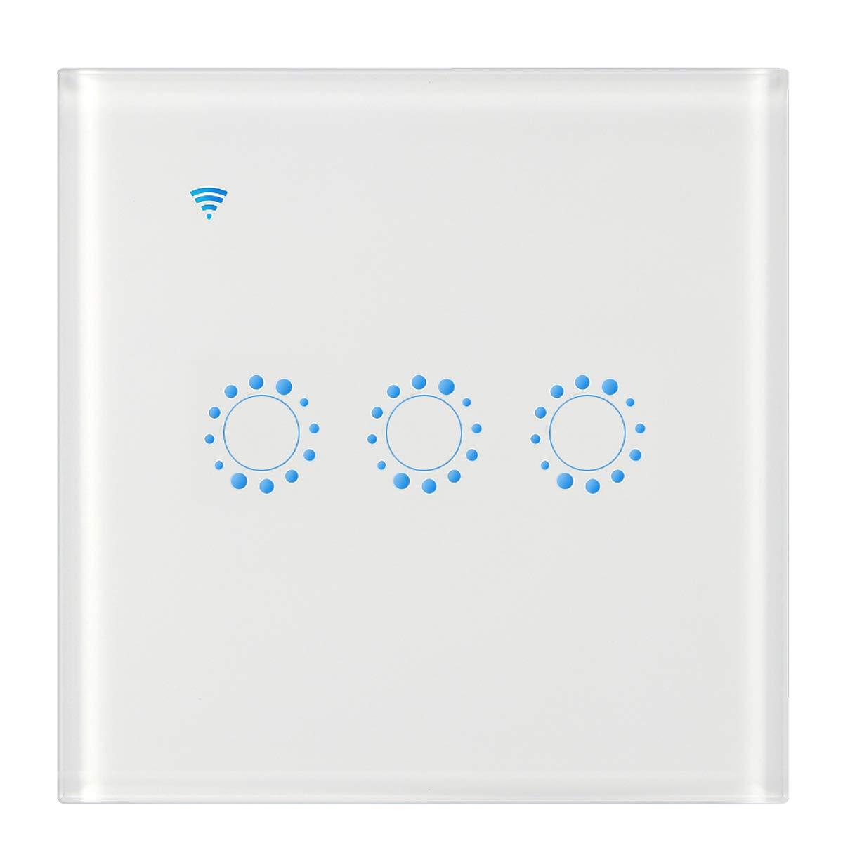 Timing Frontoppy WiFi Touch Wall Interruptor 1 Gang Compatible con Alexa y trabajo con Google Home ifttt Funci/ón de control de App no Requiere Hub Need Neutral Line Smart WiFi Interruptor de luz
