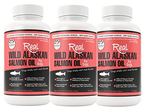 Pet Salmon Oil for Dogs and Cats Made in the USA Pure Wil...